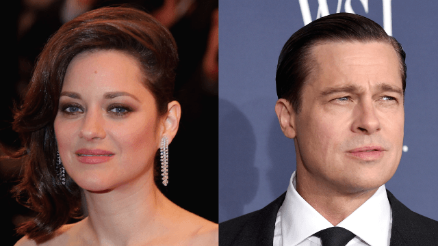 Marion Cotillard spills on what filming a sex scene with Brad Pitt was really like.