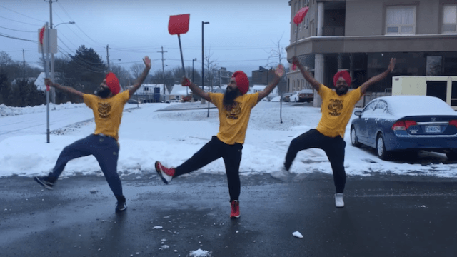 These dudes choreographed the bangingest bhangra dance for when you have to shovel snow.