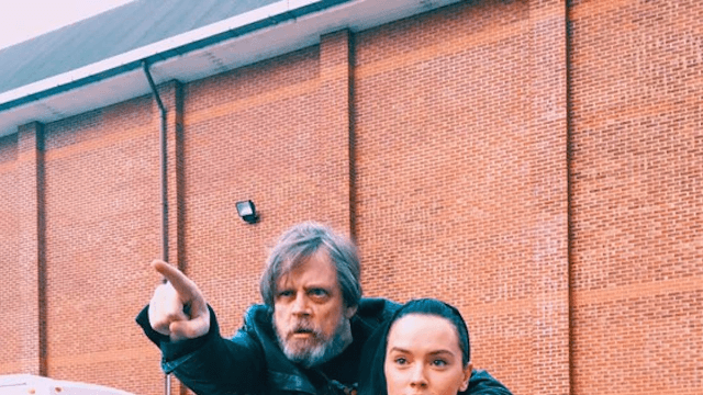Mark Hamill wished Daisy Ridley a happy birthday with this photo of them starting Jedi training.