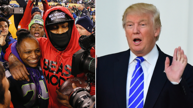 Marshawn Lynch's mom serves Trump an epic comeback after he dissed her son.