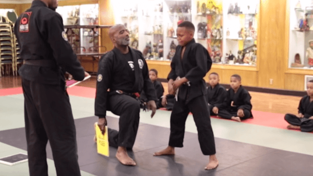 Martial arts instructor explains that it's okay for boys to cry.