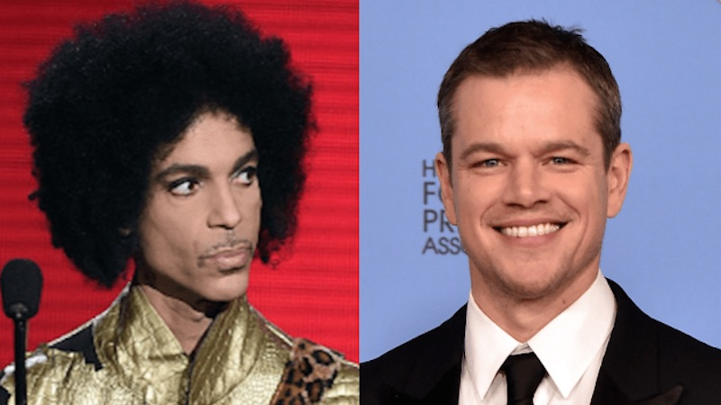 Matt Damon once tried and failed to make small talk with Prince.