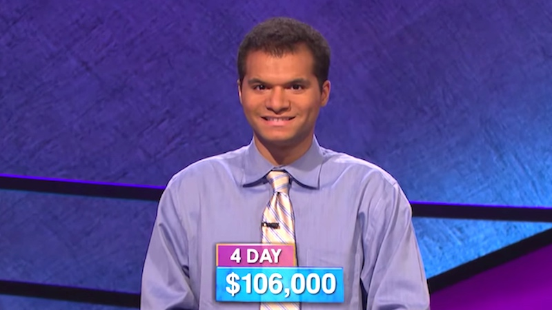 Everyone is falling in love with the reigning 'Jeopardy!' champion because he's the funniest dude.