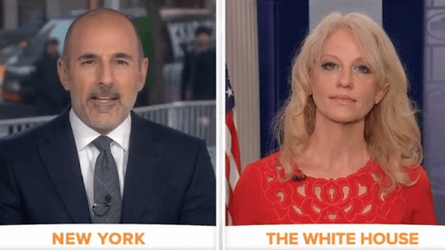 Matt Lauer goes beast mode on Kellyanne Conway over Michael Flynn's resignation.