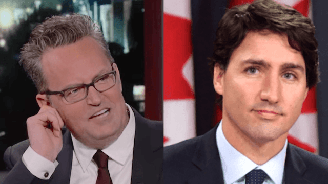 Matthew Perry once beat up Justin Trudeau, and he's rightfully ashamed of himself.