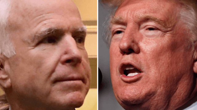 John McCain's comment about the Vietnam War was an obvious swipe at Trump.