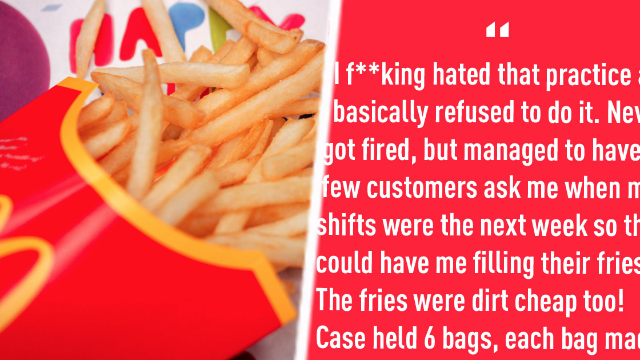 McDonald's responds after viral Reddit thread accuses them of secret fry stealing tactic.