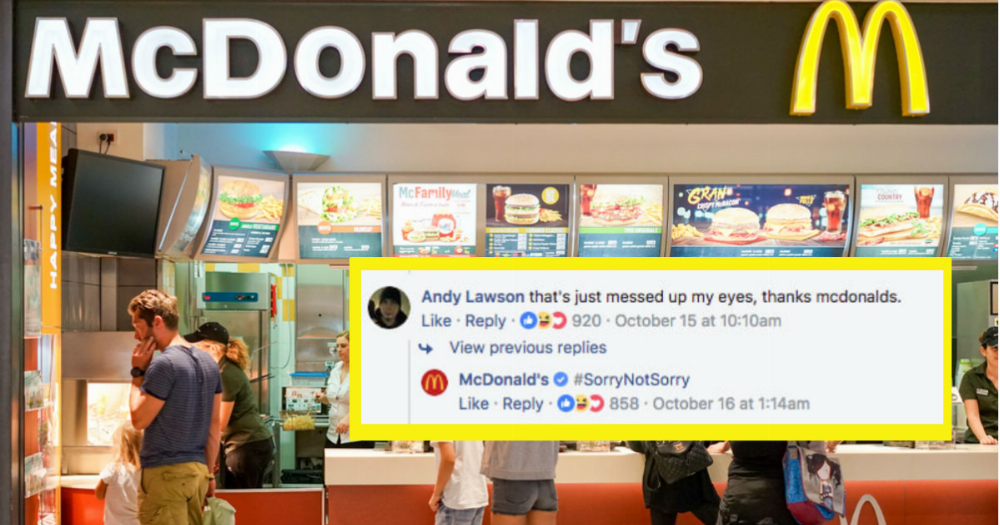 McDonalds posted an optical illusion that will cause you to stress eat.