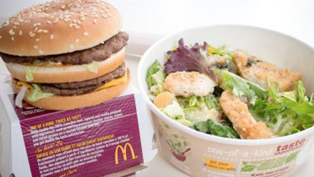 Bad news for people who planned to lose weight eating McDonald's salads.