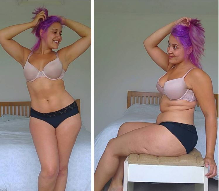 60b290f0c Lingerie model reveals the truth about photoshoots by taking  real  photos  ...