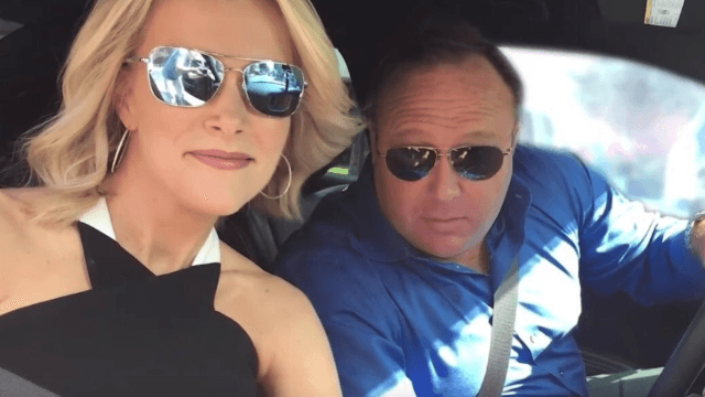 Everyone is pissed Megyn Kelly is palling around with the guy who thinks Sandy Hook is a hoax.