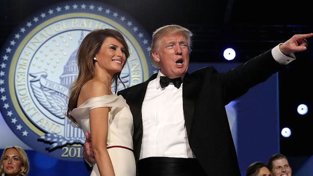 Melania Trump stands by her man, defends his 'bleeding face-lift' tweets.