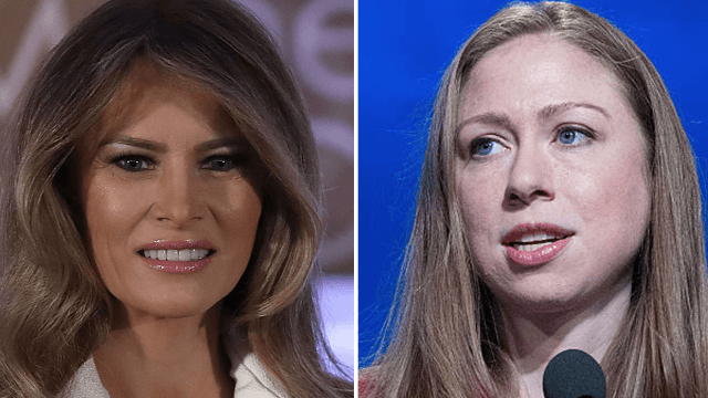 Melania Trump just thanked Chelsea Clinton for standing up for Barron on Twitter.
