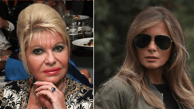 Melania is feuding with Trump's first wife over who's the real first lady.