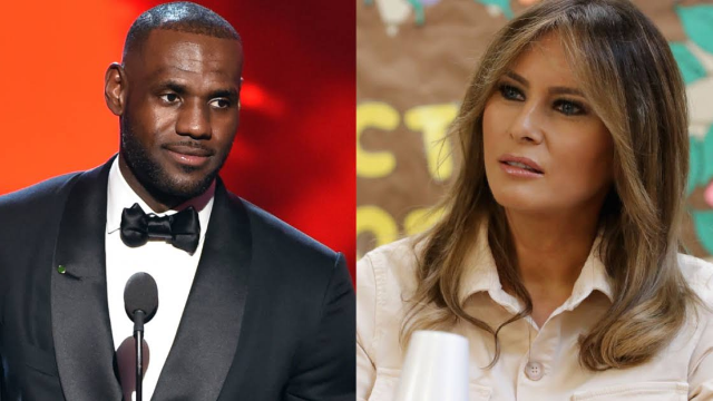 Melania Trump defends LeBron James after he was insulted by President Trump on Twitter.