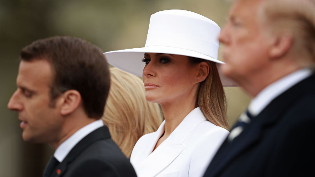 Melania Trump's White Hat Sparks Internet Meme Glory