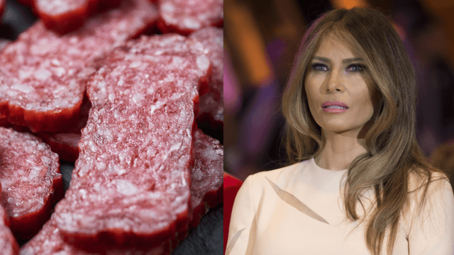 "You can now buy overpriced ""First Lady"" salami to honor Melania Trump."