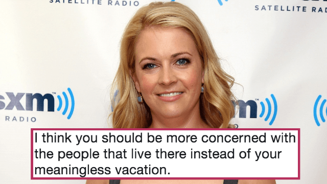 Melissa Joan Hart complained about Hurricane Maria ruining her vacation. People are pissed.
