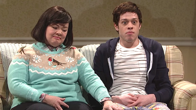 The awkwardness of stumbling upon a sex scene on family movie night, courtesy of 'SNL.'