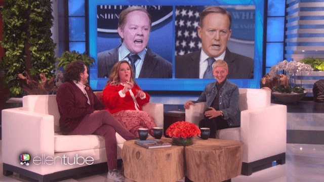 Melissa McCarthy talks about her Sean Spicer impersonation on 'Ellen.'