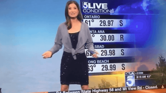Meteorologist who was forced to put on a sweater on live TV insists it wasn't sexism.
