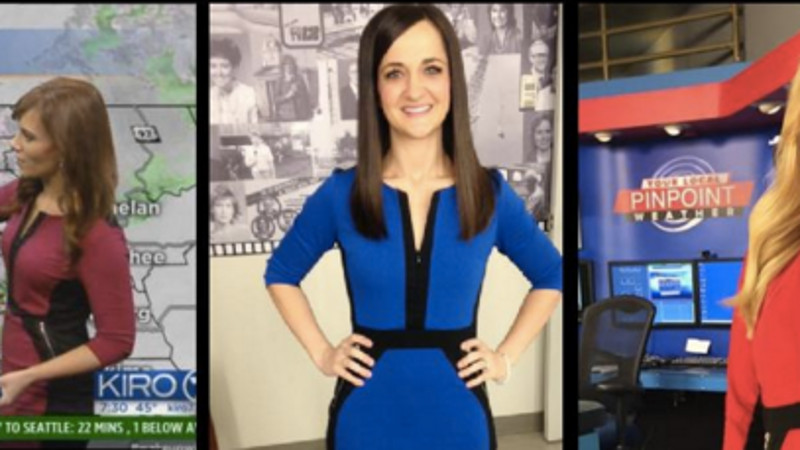 Dozens of meteorologists across the country are all wearing the same dress.
