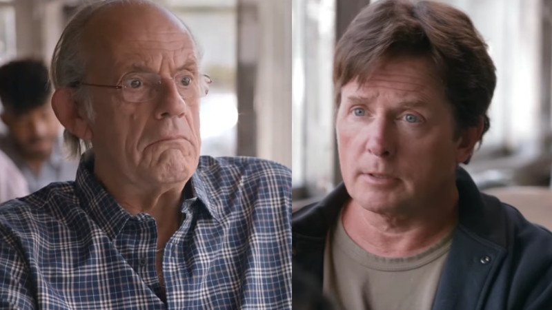 Michael J. Fox, Christopher Lloyd have 'Back to the Future' reunion to rate how 2015 turned out.
