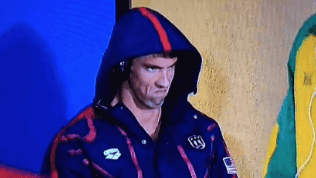 The #PhelpsFace is now the world's scariest tattoo.