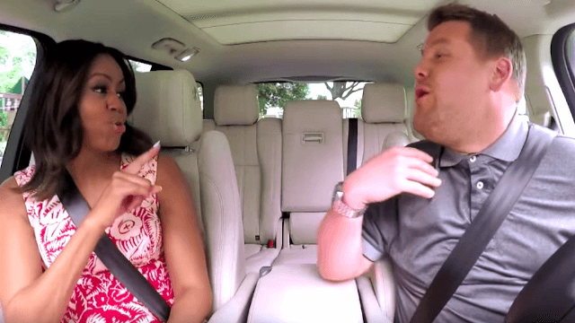 Michelle Obama doing Carpool Karaoke is as lovable as you'd imagine.