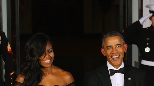 The Internet adores the totally glam dress Michelle Obama wore to last night's state dinner.