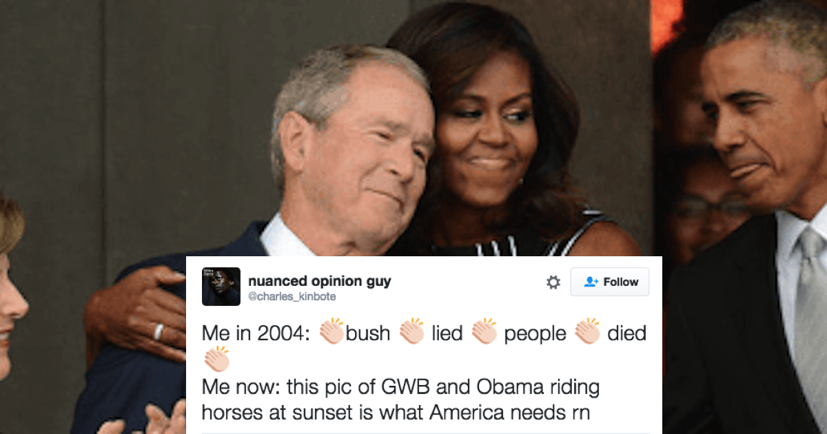 relationship between obama and bush