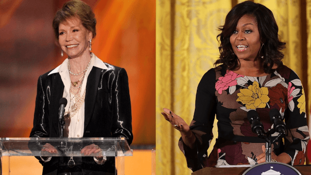 Here's how Mary Tyler Moore made an impact on Michelle Obama as a little girl.