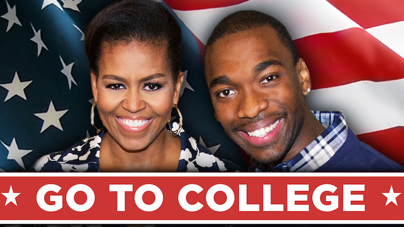 Michelle Obama's rap telling kids to go to college is the most mom-barrassing thing of 2015.