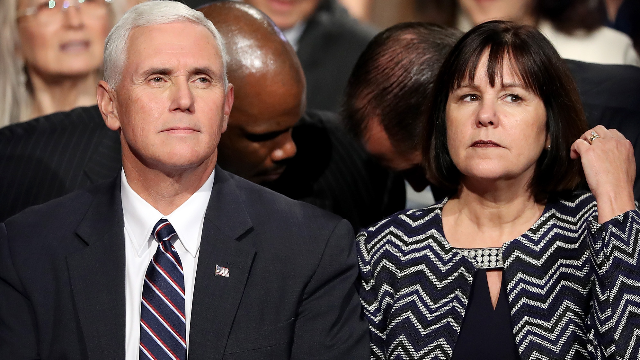 'Red-faced' Mike Pence forced to sit through anti-Trump sermon at MLK church service.
