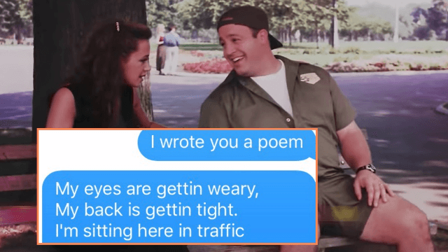 Man trolls girlfriend with love poem that is actually just the 'King of Queens' theme song.