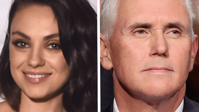 Mila Kunis reveals that she's been trolling Mike Pence on a monthly basis.