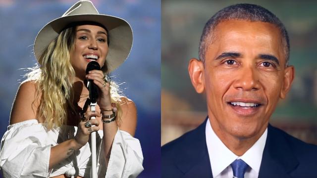 Miley Cyrus tricks Instagram followers into thinking she's BFFs with President Obama.