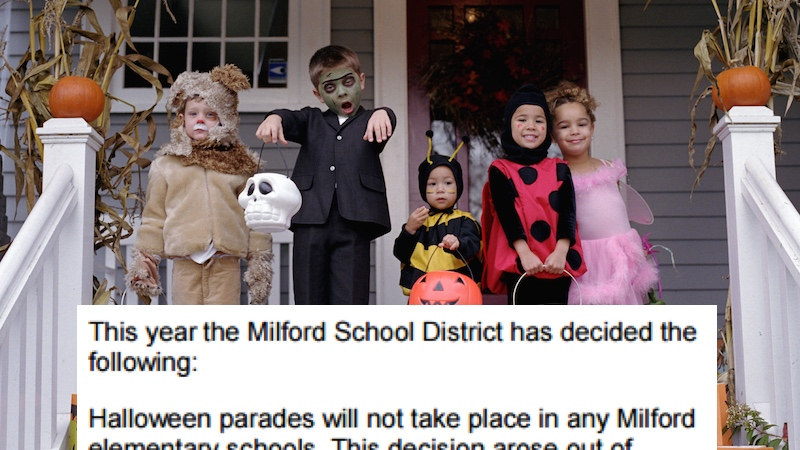 School district bans Halloween to be inclusive, replaces it with lamest possible alternative.