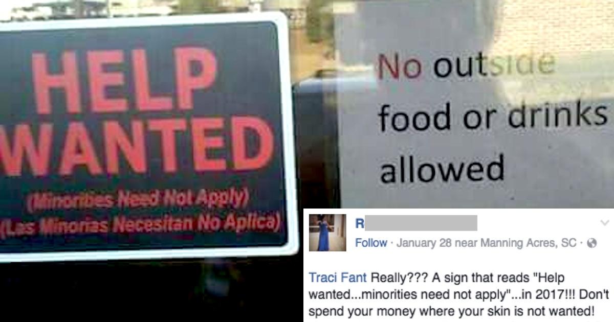restaurant slammed for  u0026 39 racist u0026 39  help wanted sign  but was it an ironic misunderstanding