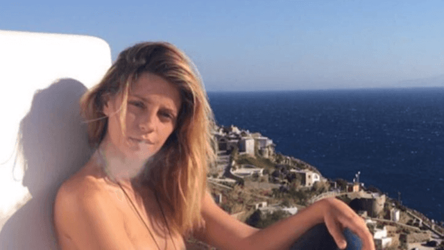 Mischa Barton posed topless on Instagram, thankfully with no political messages this time.
