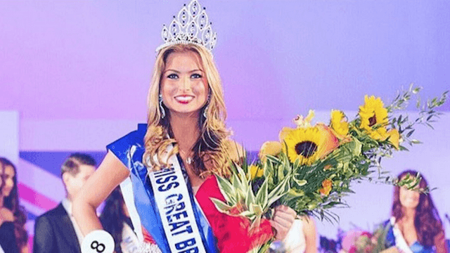 Miss Great Britain stripped of her crown for being a woman who has sex.