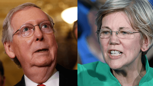 Mitch McConnell makes Elizabeth Warren shut up, accidentally coins a viral rallying cry.