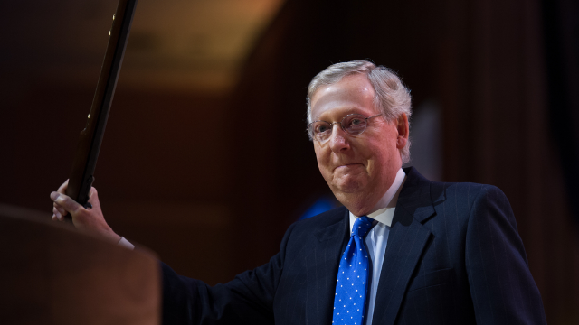 Fake graveyard, AOC cutout, and other reasons Mitch McConnell is in the news today.