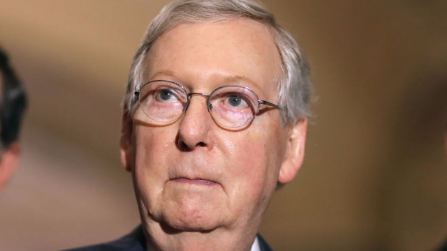 Mitch McConnell takes to Twitter to prove he's enjoying the Trump-Bannon feud more than anyone.