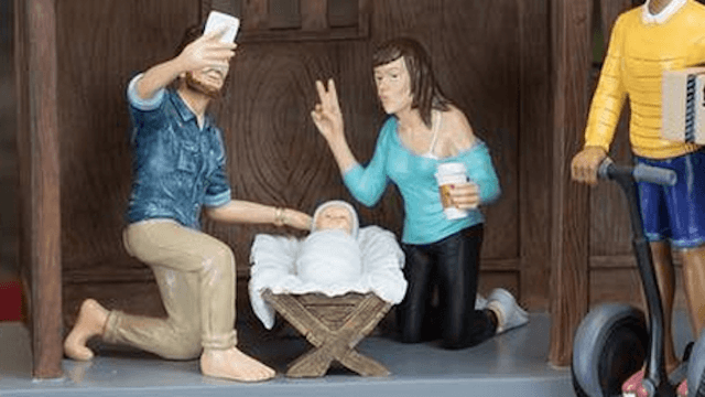 Hipster nativity scene turns Bethlehem into Brooklyn for the 2016 birth of baby Jesus.