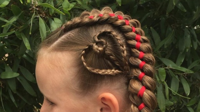 Mom braids daughter's hair into intricate, gorgeous, painful-looking styles every day.