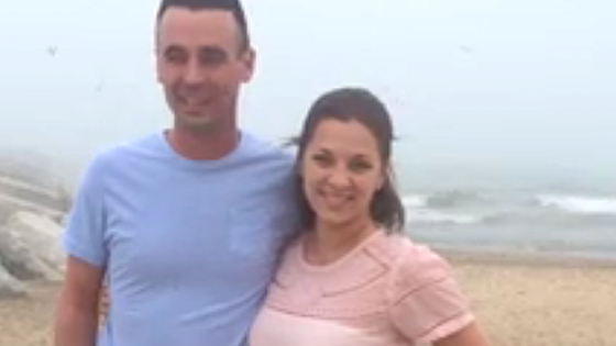 Mom interrupts daughter's surprise beach proposal by faceplanting in the sand.