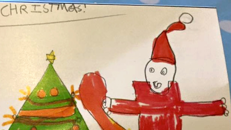 A mom posted her kid's hilariously naughty Santa drawing and parents responded with more.