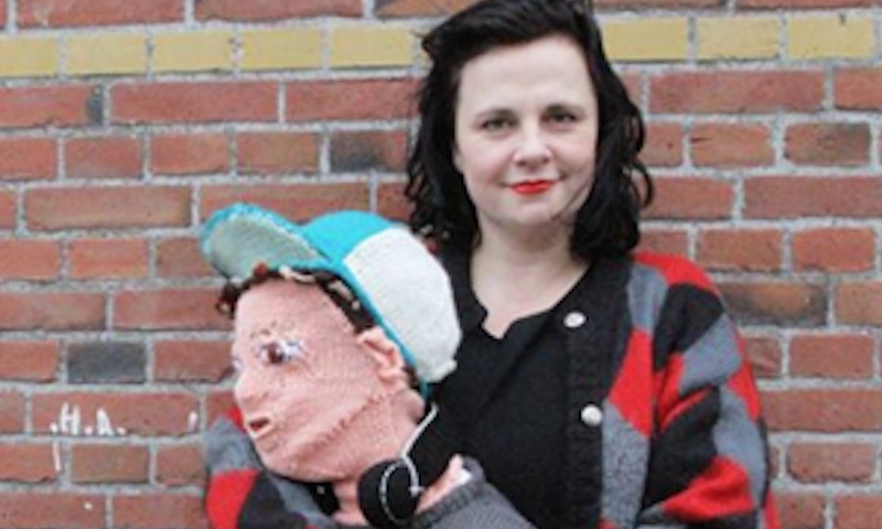 This mom knit a life-size version of her teen son, and it's all kinds of creepy.