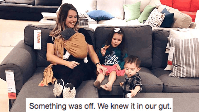 Mom goes viral with terrifying story about being followed around by two men at IKEA.